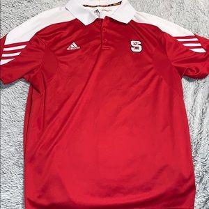 Adidas NC State Athletic Polo Tee